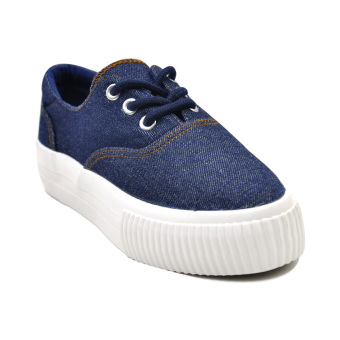 Harga Tanggo Eloise Low Cut High Quality Sneakers Unisex Lace Up Fashion Shoes (dark blue jeans)