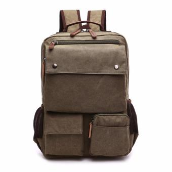 Harga BACKPACK / LAPTOP BAG / CANVASS BAG/ SCHOOL BAG MG8679 PIERSON [ARMYGREEN]