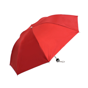 Harga London Fashion Plain Color Three Fold Compact Umbrella (Red)