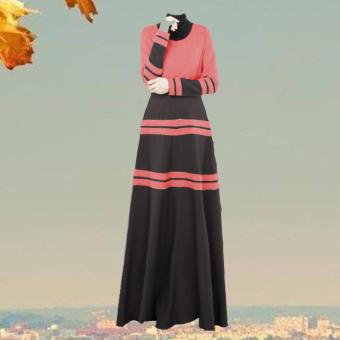 Muslim Abaya Robe Women Islamic Clothing muslim splice dress - intl Price Philippines