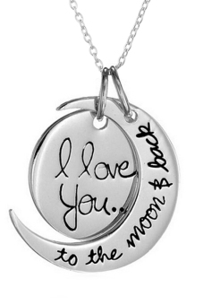 Harga Bluelans Lover I Love You To The Moon and Back Necklace (Silver)