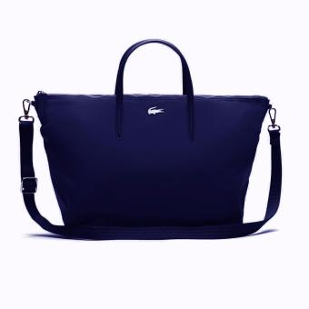 Lacoste L.12.12 Concept Nylon Zippered Tote Bag - Horizontal (Navy) Price Philippines