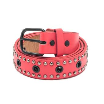 Harga Glamorosa Hot Chick Multi Holes Leather Belt (Red)