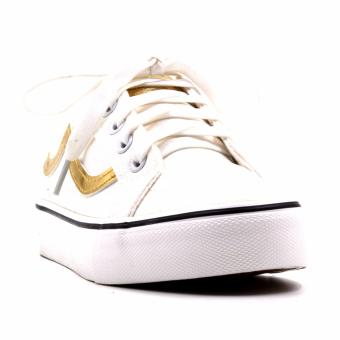 Harga New York Sneakers Lynette Low Cut Shoes(WHITE/GOLD)