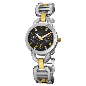 Harga Akribos XXIV Lumin Women's Two Tone Alloy Strap Watch AK703TTGB