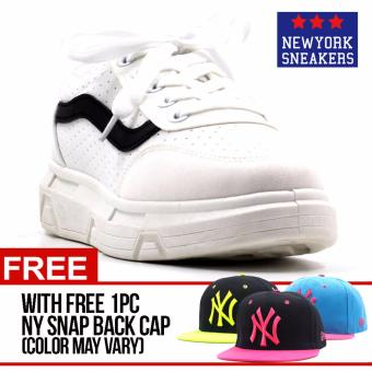 Harga New York Sneakers Liz Rubber Shoes(WHITE) with FREE NY CAP