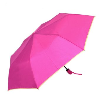 Harga London Fashion SPhil Plain Windproof Automatic Compact Umbrella (Pink)