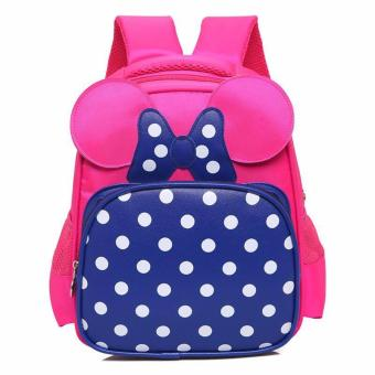 mini polka design bagpack fo kids (fuchsia pink)Schoolbag Kids Children Back To School Price Philippines