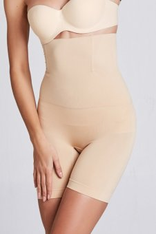 Harga Stitch Seamless Shapewear High-Waist Thigh Slimmer (Nude)(Export) -