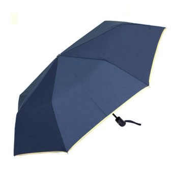 Harga London Fashion SPhil Plain Windproof Automatic Compact Umbrella (Navy Blue)