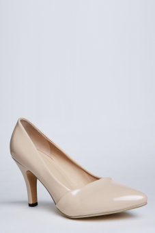 Harga Stitch Classic Pointed Toe Stiletto Heels, Patent finish (Nude)
