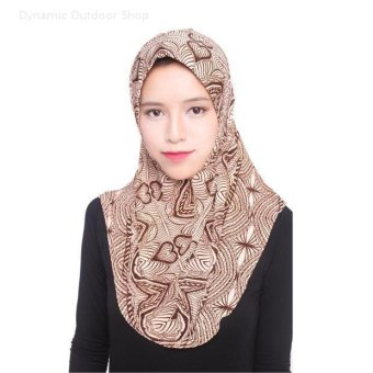 Harga Women Scarf muslim headscarf fashion headband Soft hijab - coffee pattern - intl