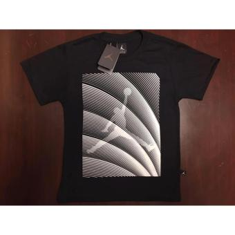 Harga Hoops Jordan Logo with stripes diagonal t-shirt teens
