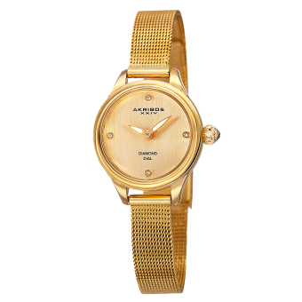 Harga Akribos XXIV Empire Women's Yellow Gold Stainless Steel Strap Watch AK873YG