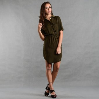 Bench YDN0252MG3 Dress (Olive) Price Philippines