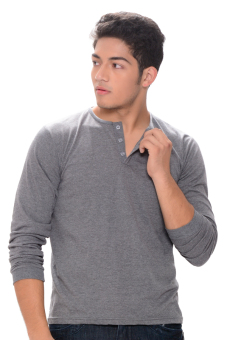 Sunjoy Camisa de Chino Long Sleeves (Grey) Price Philippines