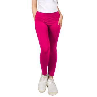 Cotton Republic Modern Fashionable Plain Leggings (Pink) Price Philippines