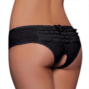 Jo.In New Sexy Women Lace Crotchless Lingerie Bowknot Knickers Panties Thong G-string Transparent Underwear - intl Price Philippines