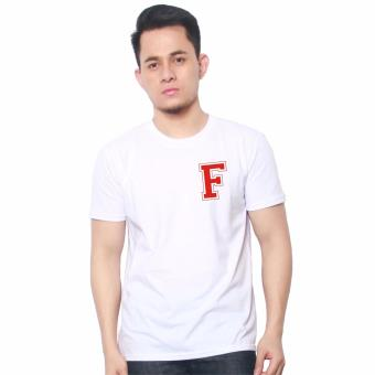 T-shirt ni Juan Pocket Letter F (White Red) Price Philippines