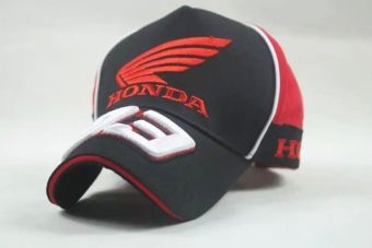 Harga Black men women HRC Honda baseball cap golf hat moto gp motorcycle racing.