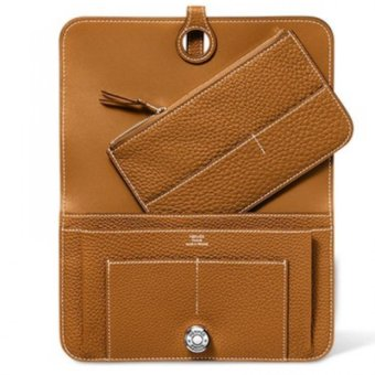 Harga Hermes Dogon Togo Leather Combined Wallet (Tan)