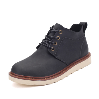 Harga Lechgo Men's Retro Tooling Boots Lace-Ups JW014 (Black) - Intl
