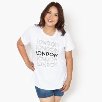Harga SM Woman Plus London Statement Tee (White)