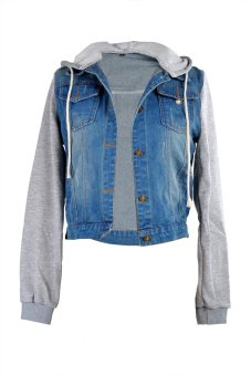 ASTAR Distressed Light Wash Denim Jean Jackets (Blue) Price Philippines