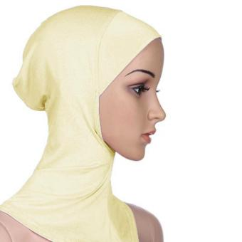 Under Scarf Hat Muslim woman Hijab Islamic Head Wear Neck Cover Light yellow - intl Price Philippines