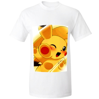 POKEMON Cute Pikachu Cool Animated Shirt (White) Price Philippines
