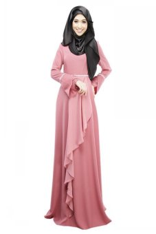 Nicture Women Kaftan Abaya Dress Muslim Islam Jilbab Maxi Dress(Pink) Price Philippines