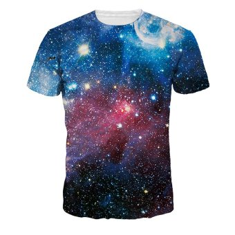Harga Jiayiqi Sparkly Galaxy Universe T-shirts Pretty 3D Digital Printed Tops