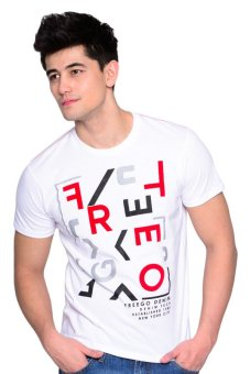 Harga Freego Slim Fit Tee (Bright White)