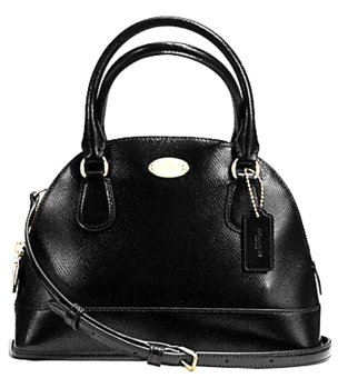 Coach F36949 Mini Cora Domed Satchels In Patient Crossgrain Leather Price Philippines