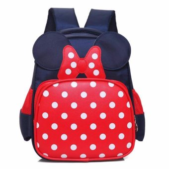 mini polka design bagpack fo kids ( black) Schoolbag Kids Children Back To School Price Philippines