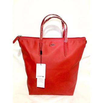 LACOSTE WOMEN'S L.12.12 CONCEPT VERTICAL TOTE BAG RED Price Philippines