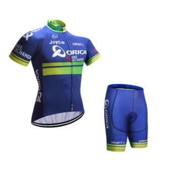 Harga Fortress Bike Cycling Orica Jersey with Non Bib Short (Blueorica)