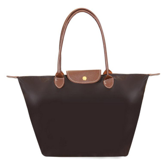 Harga Women Fashion Hobo Bag Large Tote Shoulder Handbag (Coffee) - Intl