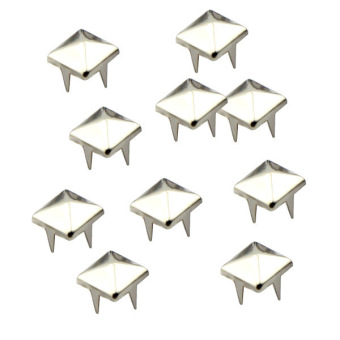 eMylo 100pcs 10mm Pyramid Square DIY Metal Studs 4 Prongs Spots Nailheads Spikes for Bag Shoes Jeans Bracelet (Silver) Price Philippines