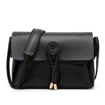 QF Korean Fashion Mini Leather Sling Bag (Black) Price Philippines