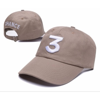 Harga Chance The Rapper 3 Dad Hat Baseball Cap Adjustable Letter Embroidery Hip Hop Khaki - intl