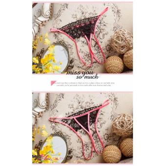 Anna Mu Thong & Panties Stylish Thong Missy Black and Pink Price Philippines