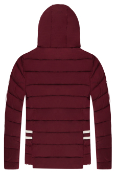 Cyber Men Casual Hooded Thick Wadded Padded Jacket (Red) Price Philippines