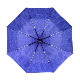 Harga London Fashion Flower Pattern Design Windproof Automatic Compact Outdoor Foldable Umbrella (Blue Violet)