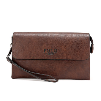 Harga Casual Clutch Men Purse Long Male Fashion Leisure Mens Wallet Hand Bag (Coffee)