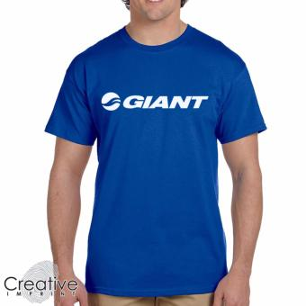 Harga Creative Imprint Giant Biker Cyclist Rider Cotton T-Shirt (Blue)