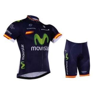 Harga Fortress Bike Cycling Movi Star Jersey with Non Bib Short (Blue)