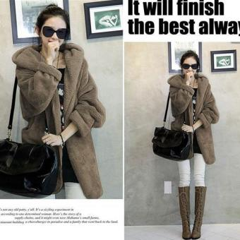Jo.In New Women's Hoodie Down Warm Outerwear Cardigan Jacket Coat - intl Price Philippines
