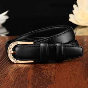 Harga All-Match Widen Women's Belt Pin Buckle Leisure Time Wide Belt Korean Style Fashion - intl
