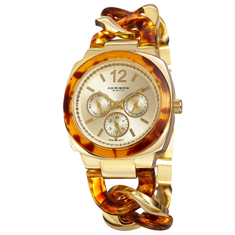 Harga Akribos XXIV Women's Two Tone Alloy Strap Watch AK641YG